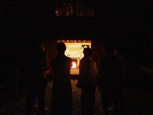 御塩焼所での荒塩奉製(御塩焼き)、御塩殿神社(皇大神宮 所管社)