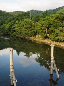 宇治橋から眺めた五十鈴川