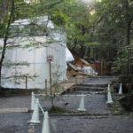 大修繕が続けられる大山祇神社および子安神社(ともに皇大神宮 所管社)