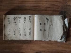 目次、両宮摂社末社廻ほか神社仏閣が記された古文書