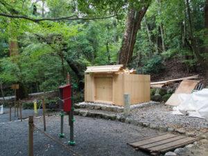 修繕を終えた殿舎、子安神社(皇大神宮 所管社)