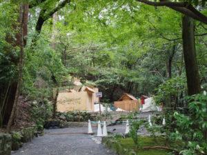 修繕を終えた殿舎が姿を現した大山祗神社および子安神社(ともに皇大神宮 所管社)