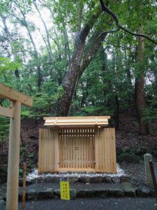 遷座祭を待つ子安神社(皇大神宮 所管社)
