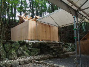 雨儀廊が設置されていた大山祗神社および子安神社(ともに皇大神宮 所管社)