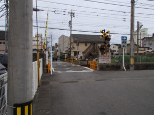 JR参宮線 新道裏踏切