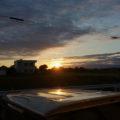 河原神社(豊受大神宮 摂社)の社叢からの日の出