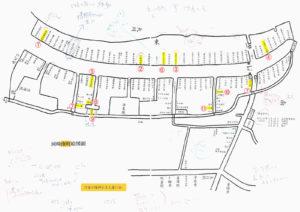 河邊七種神社古文書の会により翻刻された「河崎南町絵図面」