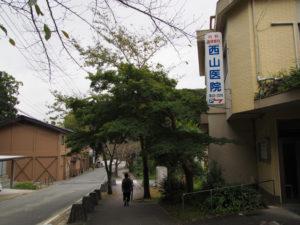 西山医院付近(古市街道 牛谷坂)