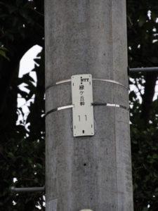 NTT電柱番号板[緑ヶ丘幹11]