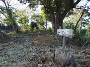「樋の山」の道標(讃岐 金刀比羅宮鳥羽分社 拝殿付近)
