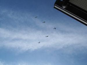 我が家の真上を飛行した明野航空祭の編隊たち