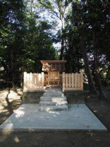 御造替され11月16日に御遷座を迎える社殿、須賀神社(多気郡明和町行部)