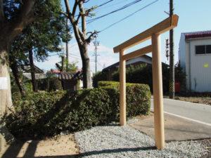 須賀神社から仮殿となっている西行部公民館へ(多気郡明和町行部)