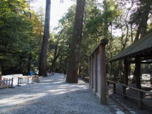 特別に開放された古殿地への参道(内宮)