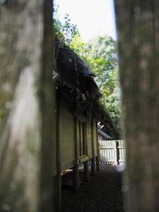 お白石が移動された八尋殿の御敷地、神麻続機殿神社(皇大神宮 所管社)