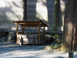正宮の参拝停止に向けて準備されていた賽銭箱(外宮)