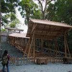 「即位礼及び大嘗祭後神宮に親謁の儀」に向けて設営された雨儀廊(内宮)
