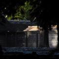 「即位礼及び大嘗祭後神宮に親謁の儀」に向けて設営された雨儀廊(外宮)