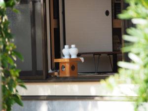 社務所に準備されていた瓶子や大幣ほか、御薗神社(伊勢市御薗町王中島)
