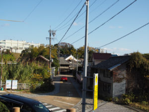 亀山宿 西町問屋場跡から望む街道(東海道)