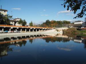 亀山城の堀 池の側