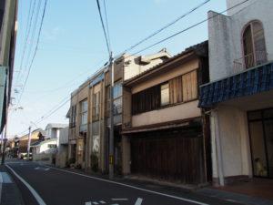 江戸口門跡〜巡見道との交差点(東海道 (15)亀山宿・A)