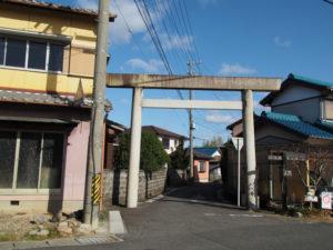 16 能褒野神社の二の鳥居(東海道 (14)和田)