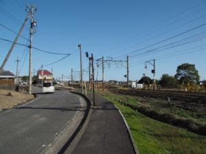 JR関西本線 柿の木踏切付近