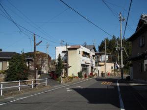 「田村道」の道標付近
