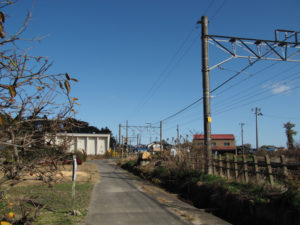 JR関西本線 井田川踏切付近