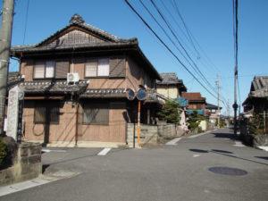 庄野宿の石柱(東海道 (12)庄野宿)