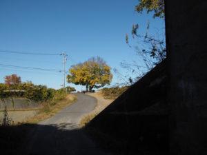 JR関西本線 檜山橋りょう下から望む石薬師の一里塚