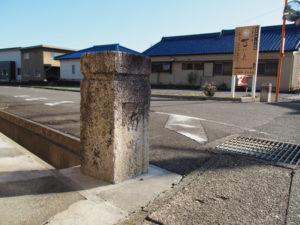 南町橋の親柱(東海道 (11)石薬師宿)