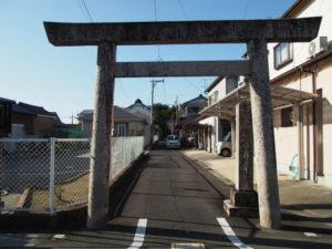 6 大木神社の鳥居(東海道 (11)石薬師宿)