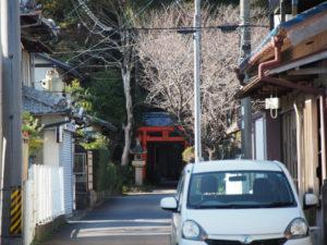 6 大木神社の遠望(東海道 (11)石薬師宿)