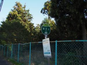 BUS STOP 坂の上 バス停
