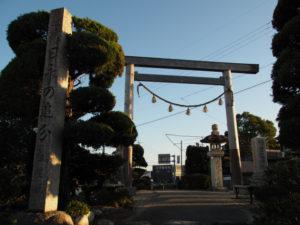 3 神宮遙拝鳥居(東海道 (9)日永の追分)