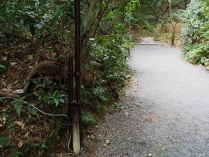下御井神社への参道の仮設照明(外宮)