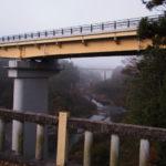 旧舟木橋から望む宮川の上流、三瀬谷ダム方向