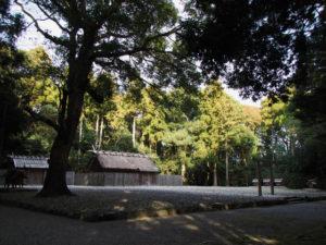 斎庭の全景、神服織機殿神社(皇大神宮 所管社)