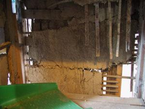 修繕中の壁面、旧御師 丸岡宗大夫邸(伊勢市宮町)