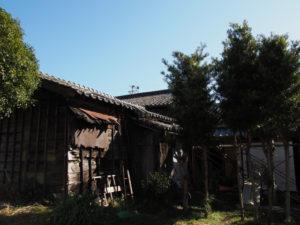 裏庭から望む 旧御師 丸岡宗大夫邸(伊勢市宮町)