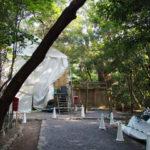 すでに殿舎が建ち上がっていた高河原神社(豊受大神宮 摂社)
