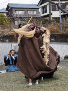 一之瀬神社獅子神楽、脇出公民館にて(度会町脇出)