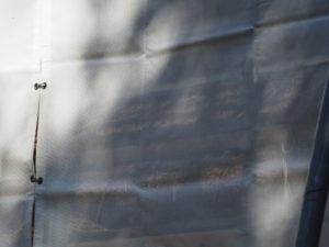 萱葺き工事が進む八尋殿、神麻続機殿神社 (皇大神宮 所管社)