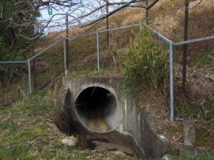 岩谷池から下流側の立梅用水「5-1-31」(多気町丹生)