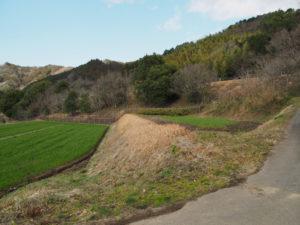 岩谷池から下流側の立梅用水「5-1-31」から離れて(多気町丹生)
