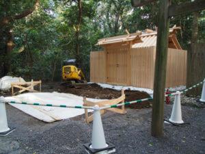 鳥居の穴が掘られていた高河原神社(豊受大神宮 摂社)