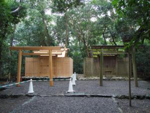 鳥居が建てられていた高河原神社(豊受大神宮 摂社)