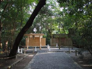 御造替を終え御遷座を待つ高河原神社(豊受大神宮 摂社)